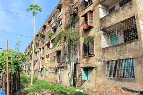 dỡ chung cư cũ thái nguyên 2