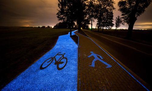 làn đường xe đạp phát sáng 2