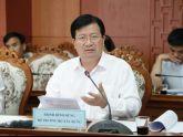 Bộ trưởng Trịnh Đình Dũng làm việc tại tỉnh Quảng Nam