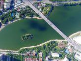 Đẹp ngỡ ngàng hồ Hà Nội nhìn từ trên cao