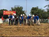 Khởi công con đường thanh niên của Đoàn thanh niên Ban QLDA ĐTXD ĐHQGHN tại Hòa Lạc