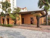 Nhà đất mái tre nổi bật giữa khu phố hiện đại Quảng Ninh