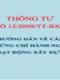 TT 12/2009/TT-BXD Hướng dẫn chi tiết về cấp chứng chỉ hành nghề hoạt động xây dựng