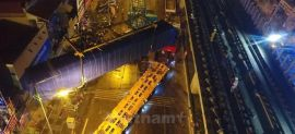 Trắng đêm cẩu thành công toa tàu lên ray đường sắt trên cao
