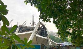 Hà Nội: Sập trường mầm non đang thi công