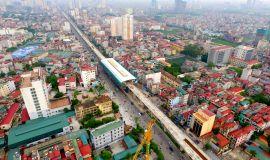 Những hình ảnh đầu tiên về nhà ga đường sắt trên cao ở Hà Nội