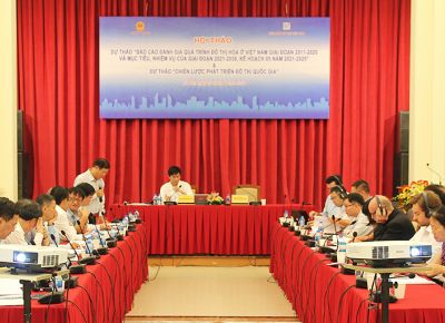 """Bộ Xây dựng tổ chức hội thảo lấy ý kiến cho Dự thảo """"Báo cáo đánh giá quá trình đô thị hóa ở Việt Nam"""" và """"Chiến lược phát triển đô thị quốc gia"""""""