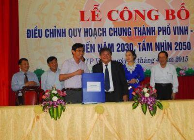 Công bố điều chỉnh Quy hoạch chung Tp Vinh đến năm 2030, tầm nhìn 2050