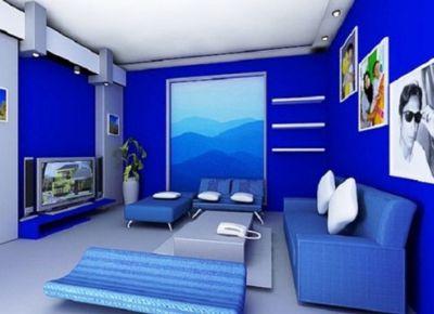 Những cách phối hợp sắc xanh trong nhà